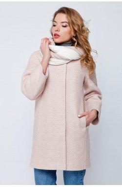 Пальто женское Ирэн персик - весна-осень