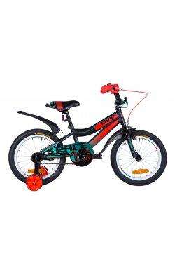 """Велосипед Велосипед 16"""" Formula RACE 2021 (черно-оранжевый с бирюзовым (м))"""