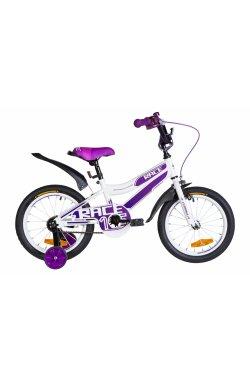 """Велосипед Велосипед 16"""" Formula RACE 2021 (бело-фиолетовый)"""