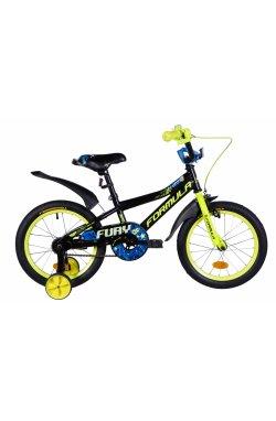 """Велосипед Велосипед 16"""" Formula FURY 2021 (оранжево-черный с салатовым)"""