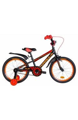 """Велосипед Велосипед 18"""" Formula SPORT 2021 (черно-красный с оранжевым (м))"""