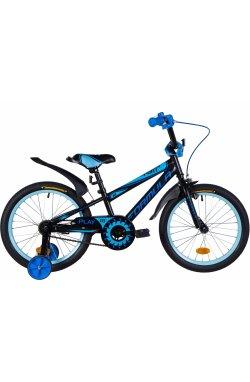 """Велосипед Велосипед 18"""" Formula SPORT 2021 (черно-синий с голубым (м))"""