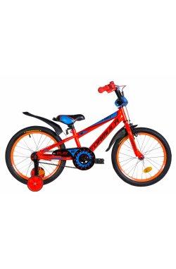 """Велосипед Велосипед 18"""" Formula SPORT 2021 (оранжево-синий с черным)"""