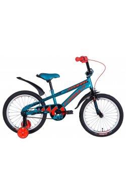 """Велосипед Велосипед 18"""" Formula WILD 2021 (бирюзово-черный с оранжевым)"""