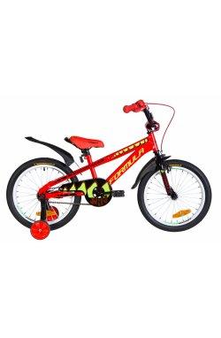 """Велосипед Велосипед 18"""" Formula WILD 2021 (красно-черный с салатовым)"""
