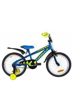 """Велосипед Велосипед 18"""" Formula WILD 2021 (синий с желтым)"""