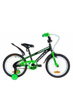 """Велосипед Велосипед 18"""" Formula WILD 2021 (черно-зеленый с белым)"""