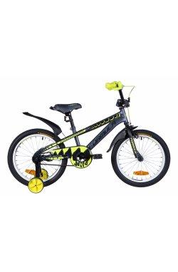"""Велосипед Велосипед 18"""" Formula WILD 2021 (серо-желтый с черным (м))"""