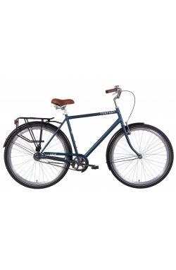 """Велосипед Велосипед 28"""" Dorozhnik COMFORT MALE 2021 (серый с черным (м))"""