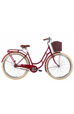 "Велосипед Велосипед 28"" Dorozhnik RETRO 2021 (рубиновый)"