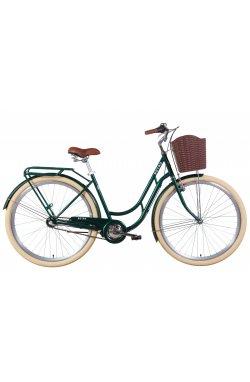 """Велосипед Велосипед 28"""" Dorozhnik RETRO планет. 2021 (зеленый)"""