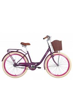 "Велосипед Велосипед 26"" Dorozhnik LUX 2021 (сливовый (м))"