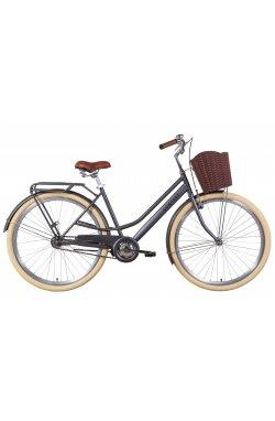 """Велосипед Велосипед 28"""" Dorozhnik COMFORT FEMALE 2021 (антрацитовый (м))"""
