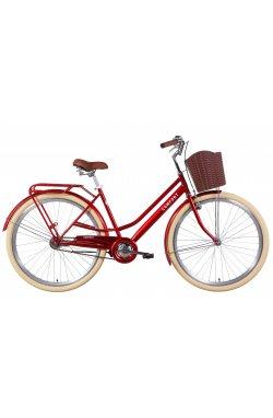 """Велосипед Велосипед 28"""" Dorozhnik COMFORT FEMALE 2021 (рубиновый)"""