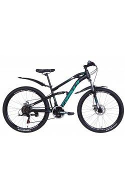 """Велосипед Велосипед 26"""" Formula BLAZE 2021 (черно-зеленый )"""