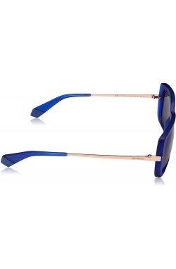 Женские солнцезащитные очки Polaroid PLD4075-PJP-С3 - бабочки;прямоугольные, Цвет линз - синий