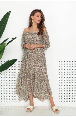 Платье 3174-c01 SM Чорный/принт