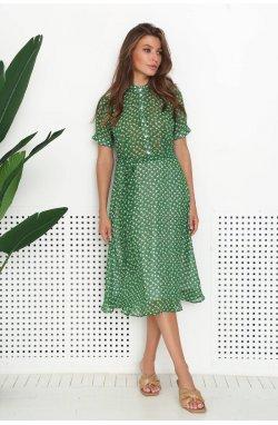 Сукня 3142-c04 - Зелений/принт
