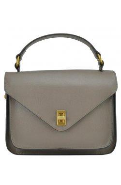 Женская элегантная бежевая сумка W16-808BO - эко-кожа, бордовый