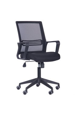 Кресло Джун сиденье Саванна nova Black 19/спинка Сетка черная - AMF - 377009
