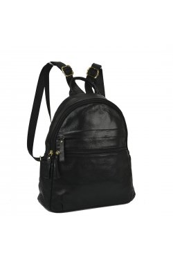 Женский кожаный рюкзак черного цвета NM20-W775A - натуральная кожа, черный
