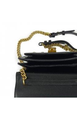 Женская элегантная черная сумка W16-808A - искуственная кожа, черный