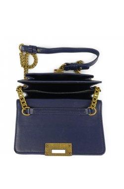 Женская элегантная темно синяя сумка W16-808BL - искуственная кожа, синий