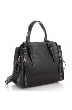 Женская кожаная средняя сумка Grays GR3-8973A - натуральная кожа, черный