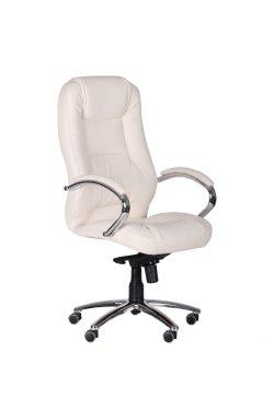 Кресло Мустанг MB Хром Кожа Люкс комбинированная Черная - AMF - 263639