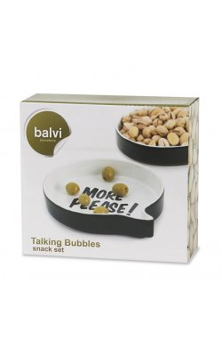 Набор из двух керамических блюд для снеков и закусок Balvi Talking Bubbles - wws-3642