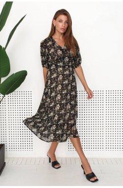 Платье 3195-c02 - Черный/Принт