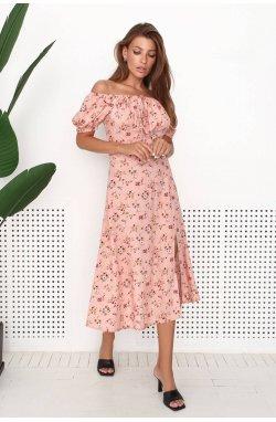 Платье 3196-c01 - Розовый/Принт