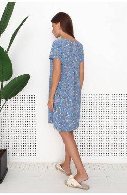 Платье 3197-c01 - Синий/Принт