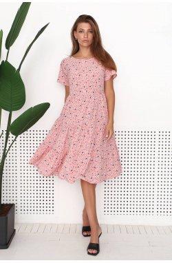 Платье 3199-PW01 - Рожевий/Принт
