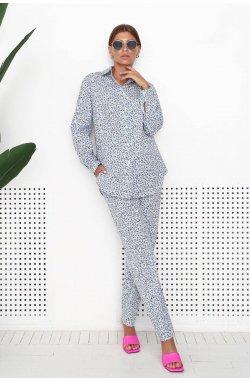 Рубашка 3209-PW01 - Білий/Принт