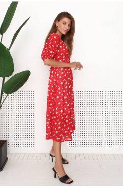 Платье 3195-c01 - Червоний/принт