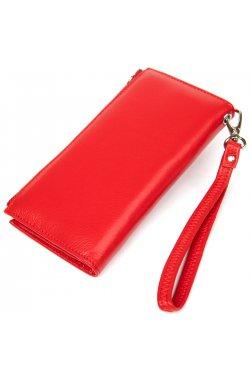 Яркий женский кошелек-клатч ST Leather19374 Красный