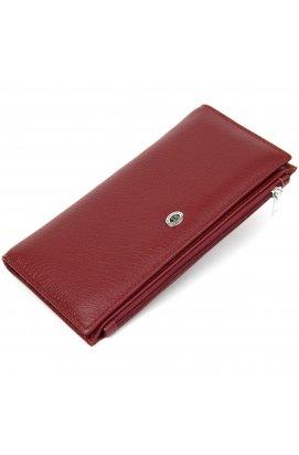 Стильный кожаный кошелек для женщин ST Leather19380 Темно-красный