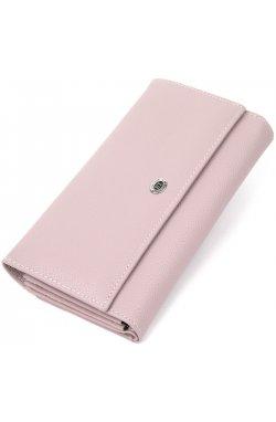 Красивый женский кошелек из натуральной кожи ST Leather19385 Светло-розовый