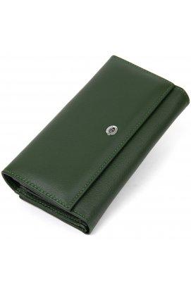 Оригинальный женский кошелек ST Leather19389 Зеленый
