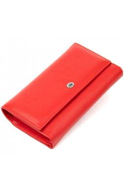 Вместительный кошелек для женщин ST Leather19391 Красный
