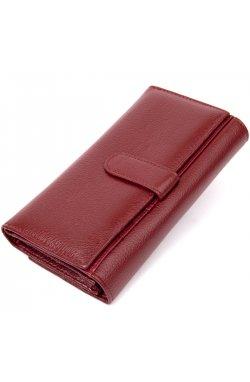 Современный кошелек для женщин ST Leather19392 Темно-красный