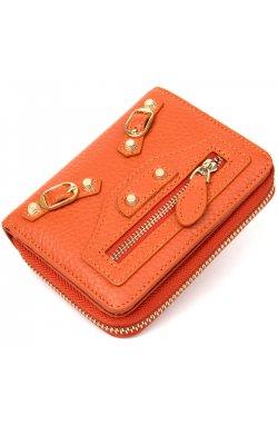 Кожаный женский кошелек Guxilai19399 Оранжевый