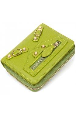 Кожаный кошелек для женщин Guxilai19401 Салатовый