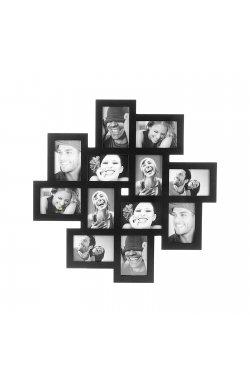 Фоторамка Present Time на 12 фото 10 х 15 см, черная - wws-9177