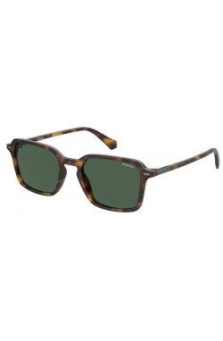 Солнцезащитные очки женские Polaroid PLD2110/S-086-UC - квадратные;прямоугольные, Цвет линз - зеленый