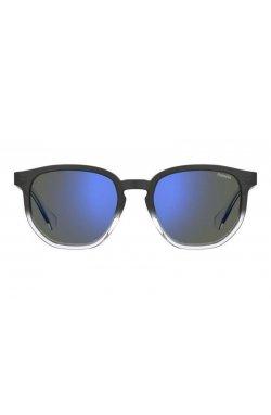 Солнцезащитные очки женские Polaroid PLD2095/S-2M0-5X - квадратные, Цвет линз - синий;серый