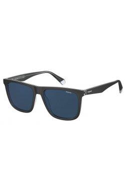 Солнцезащитные очки женские Polaroid PLD2102/S/X-7C5-C3 - квадратные;прямоугольные, Цвет линз - синий