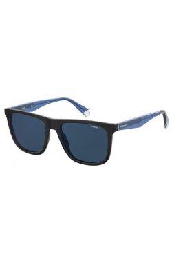 Солнцезащитные очки женские Polaroid PLD2102/S/X-0VK-C3 - квадратные;прямоугольные, Цвет линз - синий