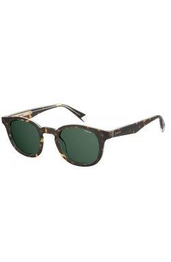 Солнцезащитные очки женские Polaroid PLD2103/S/X-KRZ-UC - круглые;овальные, Цвет линз - зеленый